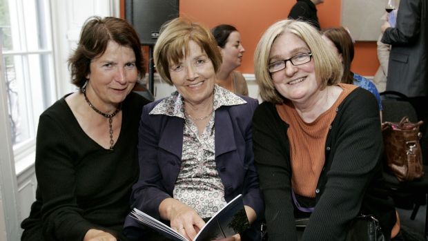 Sally Mimnagh of Eason, Margaret Daly of Little, Brown and author Mary Rose Gallagher at the launch of the Dublin Writers Festival in 2007. Photograph: Mac Innes Photography