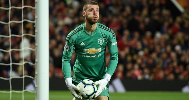 68424ac258d United keeper David de Gea after making a save during the league match  between Manchester United