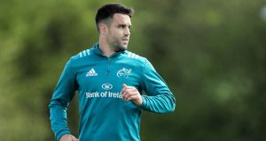 Conor Murray missed Munster's win over Connacht after sustaining an injury during the warm-up. Photograph: Laszlo Geczo/Inpho
