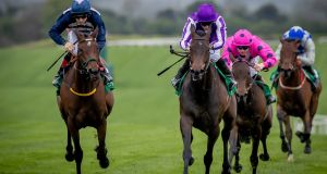 Pink Dogwood (R) and Ryan Moore were victorious at Navan. Photograph: Morgan Treacy/Inpho