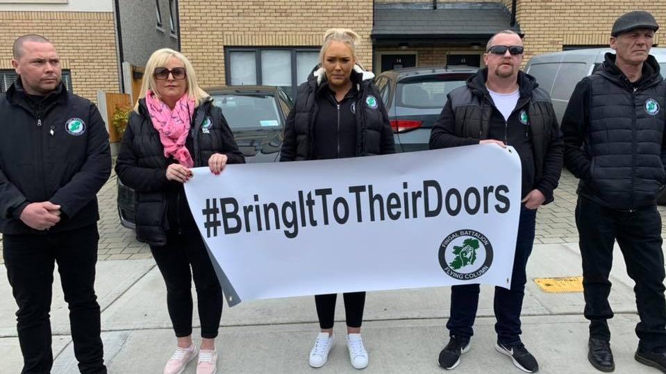 Protesters gather outside Simon Harris's home again