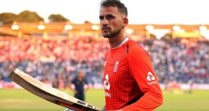 Alex Hales will not feature in the Cricket World Cup after being dropped by England. Photograph: Mark Kerton/PA