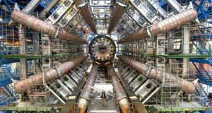 The big collider at CERN in Geneva, where physicists smash tiny particles together. Photograph: CERN/PA Wire