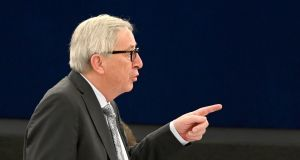 President of the European Commission Jean-Claude Juncker says UK's membership of the EU was based on 'business, not values'. Photograph: EPA