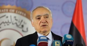 UN envoy for Libya Ghassan Salamé giving a news conference in Tripoli on April 6th. Photograph: Hani Amara/Reuters