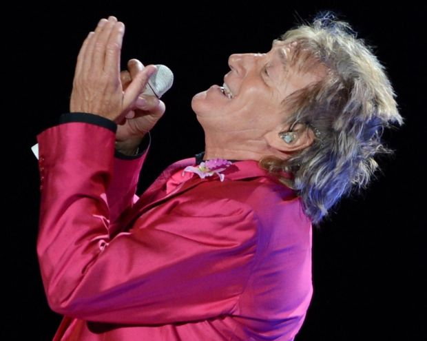Rod Stewart performs on the Heart & Soul tour at BankAtlantic Center in August, 2012 in Sunrise, Florida. Photograph: Larry Marano/Getty