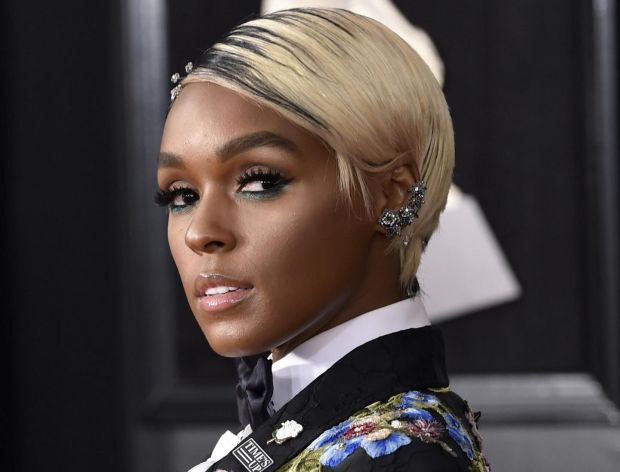 Janelle Monae arrives at the 60th annual Grammy Awards at Madison Square Garden on January 28th in New York. Photograph: Evan Agostini/Invision/AP