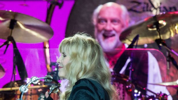 Stevie Nicks and Mick Fleetwood of Fleetwood Mac perform live at The O2 Arena on May 27th, 2015 in London. Photograph: Samir Hussein/Getty