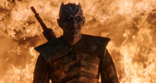 One of the horrors of the episode is to see the resurrecting powers of the Night King