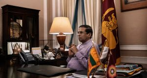 Sri Lanka's president, Maithripala Sirisena, in his office in Decenber 2018. Photograph: Adam Dean/New York Times