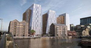 The planned new development, acquired by Google, on the Boland's Mill site which will have 40 apartments.