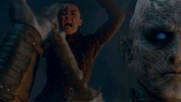 Where did Arya jump from? The Game of Thrones battle was
