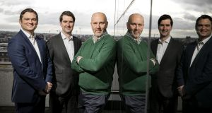 Callaun Capital co-founders (from left) head of portfolio management Noel Ross; head of origination Daire McCarthy and chief executive Stephen Bell. Photograph: Chris Bellew/Fennells