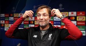 Liverpool manager Jürgen Klopp speaks at a press conference ahead of their Champions League semi-final against Barcelona. Photo: Nick Potts/PA Wire
