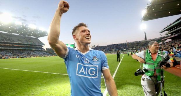 Paul Flynn celebrate's Dublin's All-Ireland SFC final replay win over Mayo in 2016. Photograph: Ryan Byrne/Inpho
