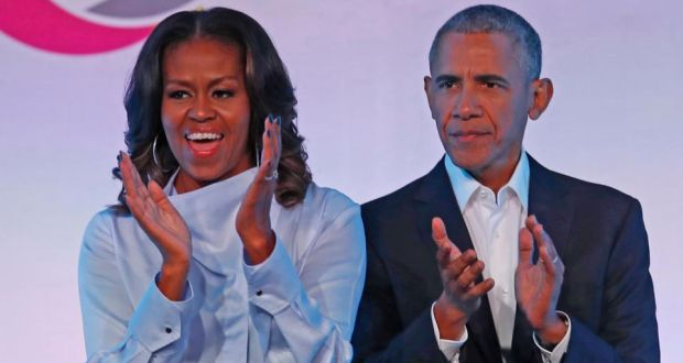 The former president and first lady struck a multiyear production deal in 2018 to produce shows and films for the streaming service. Photograph  Jim Young/afp/getty Images