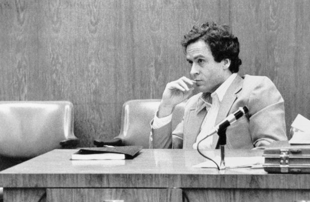 Serial killer: Ted Bundy at his trial in Florida for the murder of 12-year-old Kimberly Leach. Photograph: Bettmann/Getty