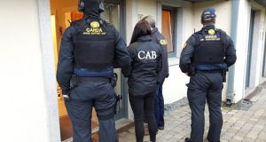 Gardaí and CAB officers carried out a series of raids in Dublin and Kildare. Photograph: Garda Press Office