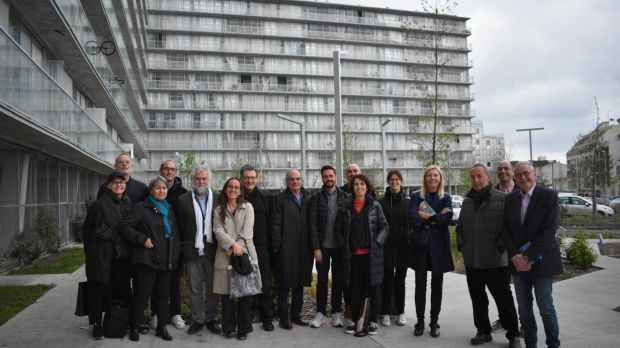 Mies van der Rohe European Prize for Contemporary Architecture jury organisers and architects Le Grand Parc, in Bordeaux.