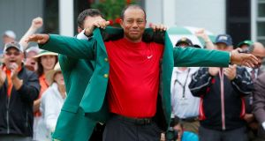 Tiger Woods is yet to return to action following his win on the US Masters at Augusta. Photograph: Bryan Snyder/Reuters