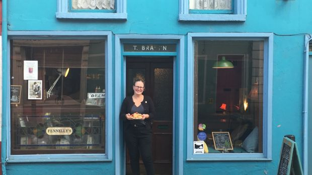 Etaoin Holohan, who lives in and owns Fennelly's coffee shop and artists' space on Bridge Street, Co Kilkenny
