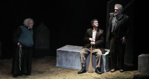 Trad: Clare Barrett, Emmet Kirwan and Seamus O'Rourke in Aaron Monaghan's production at the Abbey