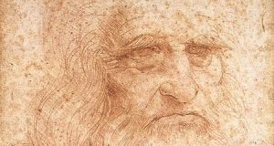 A drawing in red chalk widely accepted as a self-portrait of Leonardo da Vinci. Biblioteca Reale, Turin. Machiavelli collaborated with Leonardo on a plan to steal the river Arno from the Pisans, bringing them to their senses, or their knees, or both.
