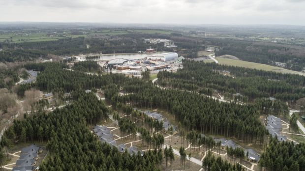 Aerial view of the Center Parcs site in Co Longford.