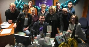The RTÉ Lyric FM team celebrate 20 years on air at the station's Limerick studio headquarters. Photograph: David Raleigh