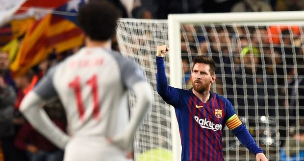 898c7ef5964 Lionel Messi's brace gave Barcelona the advantage in their Champions League  semi-final aganist Liverpool