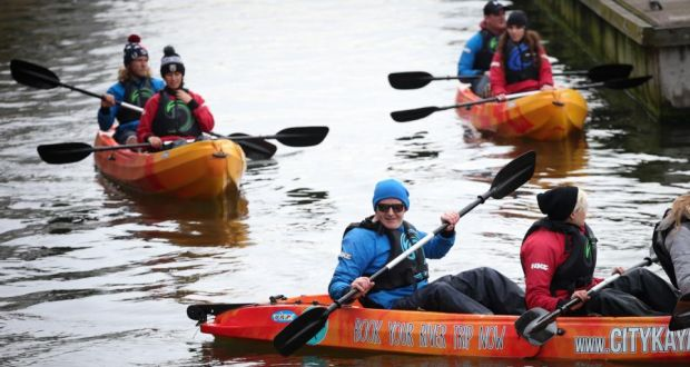 Kayaking on the Liffey: Conor Pope tours Dublin. Photograph: Laura Hutton