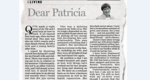 A copy of the letter written to the Sunday Independent Dear Patricia column by Patrick Quirke in 2011.