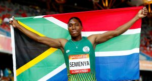 Caster Semenya will compete for the final time without the medication made compulsory by the IAAF on Friday in Doha. Photo: Paul Childs/Reuters