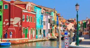 Burano is a wonderful welcome to the Venetian Lagoon. File photograph: Getty