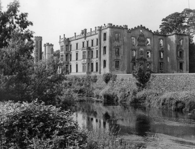 The ruins of Antrim Castle in Co Antrim in 1935. Photograph: Fox Photos/Getty Images