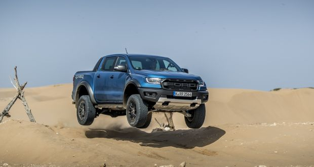 Sliding sideways in a sand dune? No problem for the new Raptor