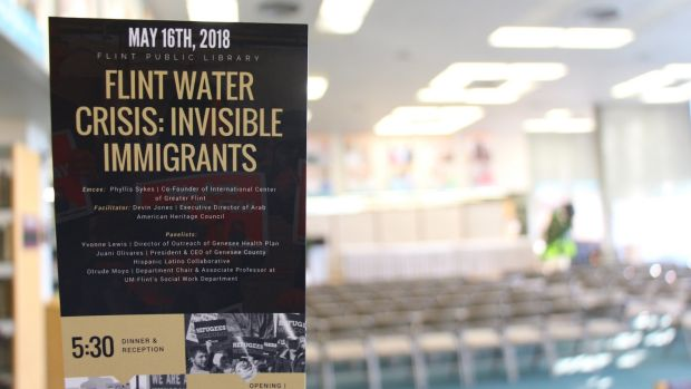 Last summer, local Arab-American groups held a conference on how the Flint water crisis affects immigrants, refugees and undocumented peoples. Photograph: Stephen Starr