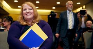 Alliance Party's leader Naomi Long – and European candidate – named  most popular politician in the North in a recent poll: Photograph: Brian Lawless/PA