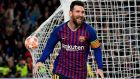 Lionel Messi: was successfully curtailed for opening 75 minutes by Liverpool but then struck twice to give Barcelona a 3-0 lead.  Photograph: Luis Gene/AFP/Getty