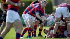 Angus Lloyd in action for Clontarf against Lansdowne during the All-Ireland League Division 1A semi-final at Castle Avenue. Photograph: Dan Sheridan/Inpho