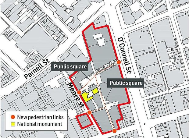 A map of the entire O'Connell Street development.