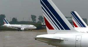 "Air France-KLM said it saw ""improving trends"" and a ""more benign industry supply outlook"""