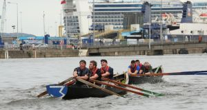 Action from the Liffey City Currach Regatta in 2018.