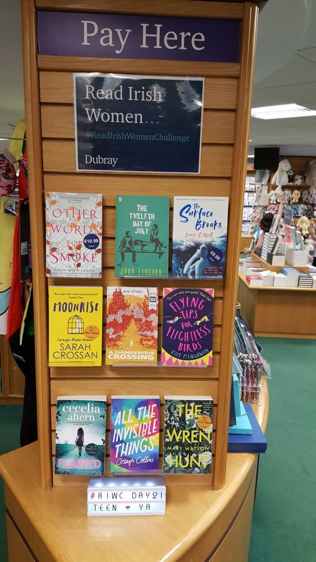 My own lovely employer Dubray Books got on board, and my colleagues in the Blackrock bookshop were keen to add their suggestions to the daily changing display.