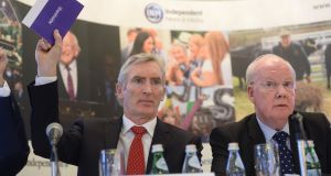 INM chief executive Michael Doorly and Murdoch MacLennan, INM non-executive chairman, at the company's agm this week
