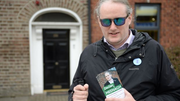 Local election candidate for Cabra-Glasnevin, Declan Meenagh. Photograph: Dara Mac Dónaill