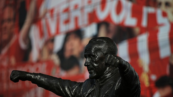 The statue of former Liverpool manager Bill Shankley outside Anfield. Photograph: Getty Images