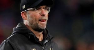 "Juergen Klopp: ""There is no need to dwell too long on the last game, and in any case we did some really good stuff in Barcelona."" Photograph: Albert Gea/Reuters"