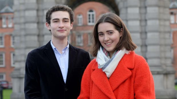 "TCD students Luke Fehily and Gráinne Sexton. Fehily says the poor implementation of semesterisation in TCD has made life ""impossible"" for many students. Photograph: Alan Betson"