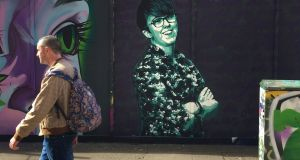 A new mural of Lyra McKee in Belfast city centre. Photograph: David Young/PA Wire